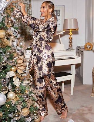 Leopard Chain Print Pyjama Set