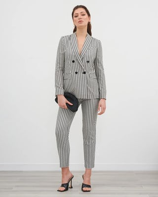 Classic Houndstooth Suit