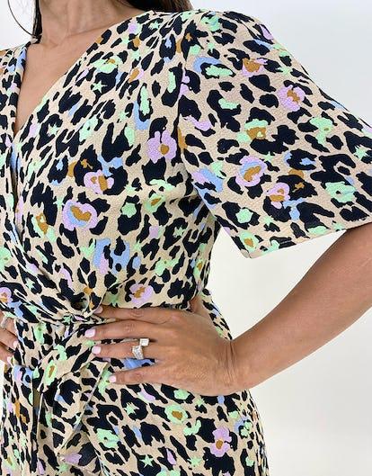 Multi-Coloured Leopard Print Playsuit