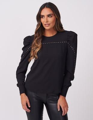Black Studded Blouse