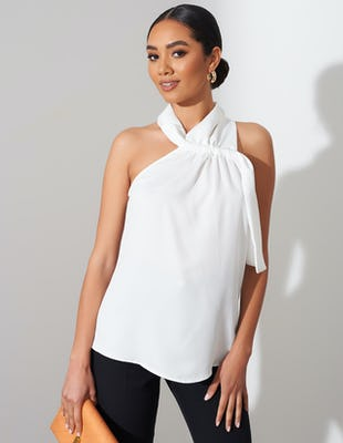 Ivory Halter Neck Top