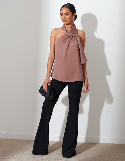 Mauve Halter Neck Top
