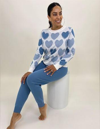 Blue Heart Lounge Set