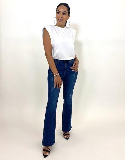 Dark Blue Denim Bootcut Jeans