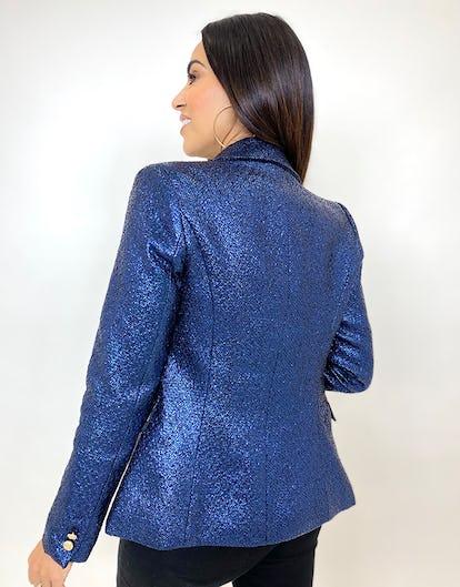 Midnight Blue Metallic Blazer