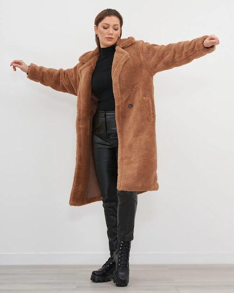 Fuschia Teddy Coat