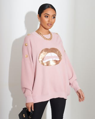 Pink Lips Jumper