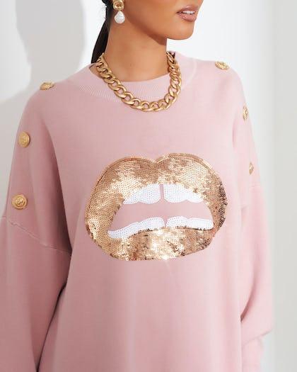 Pink Lips Jumper