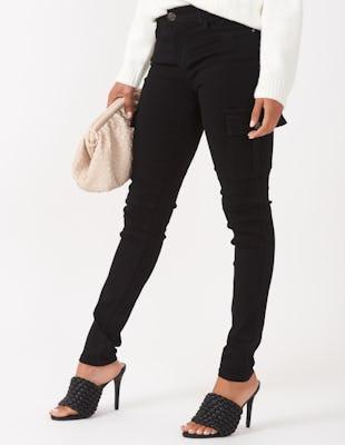 Black Utility Cargo Trousers