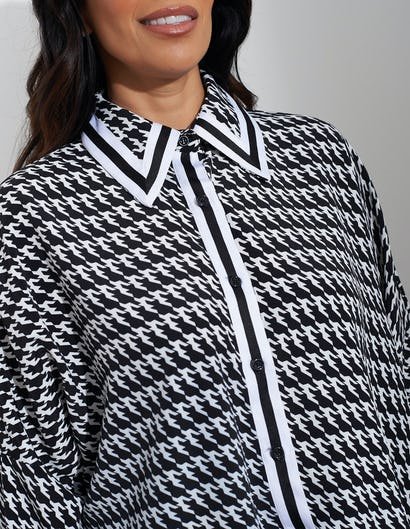 Black and White Print Shirt