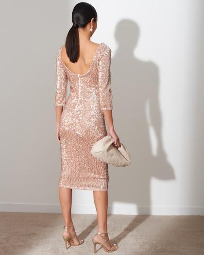 Blush Pink Sequin Dress
