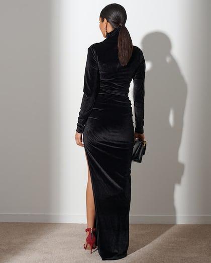 Midnight Black Extreme Split Maxi Dress