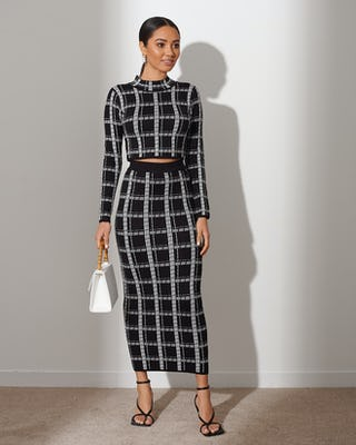 Black & White Square Print Co-ord