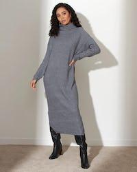 Black Soft Knit Jumper Dress