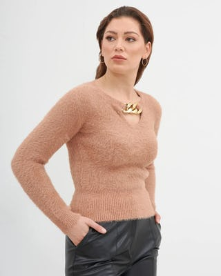 Camel Chain Teddy Fleece Jumper