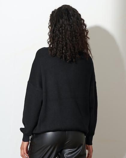 Black Statement Sequin Jumper