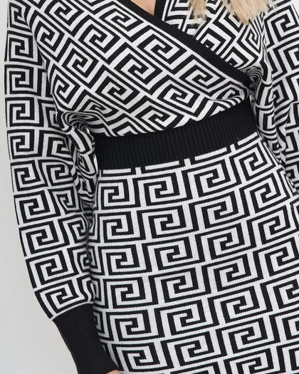 Monogrammed Wrap Dress
