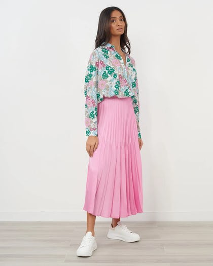 Multi Floral Print Oversized Blouse