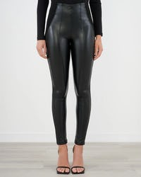 Black Faux Leather Stretch Leggings