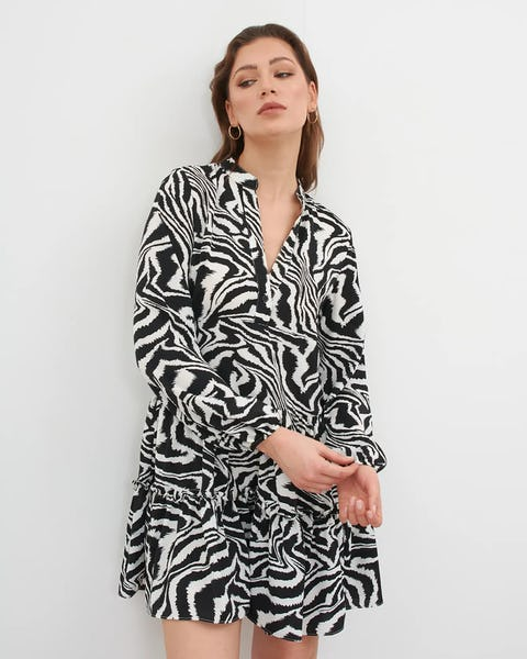 Zebra Print Mini Dress