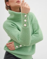 Pink Roll Neck Jumper