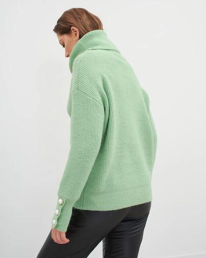Green Roll Neck Jumper