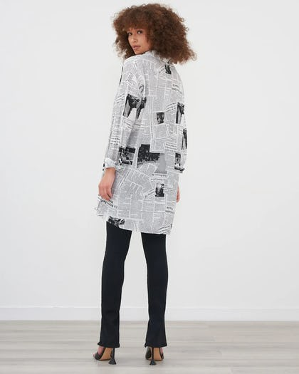 Monochrome Graphic Oversized Shirt