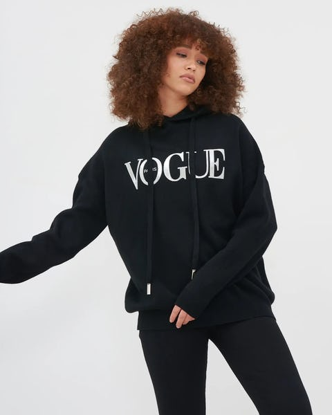 Black Vogue Jumper With Drawstring