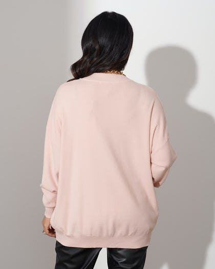 Nude Sequin Butterfly Jumper