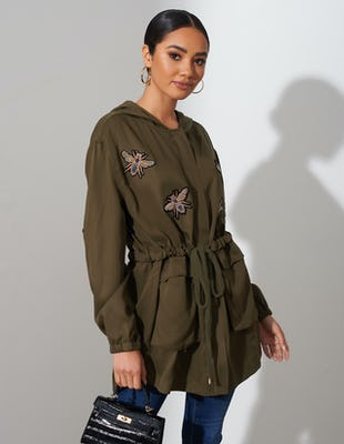Khaki Bee Parka Jacket