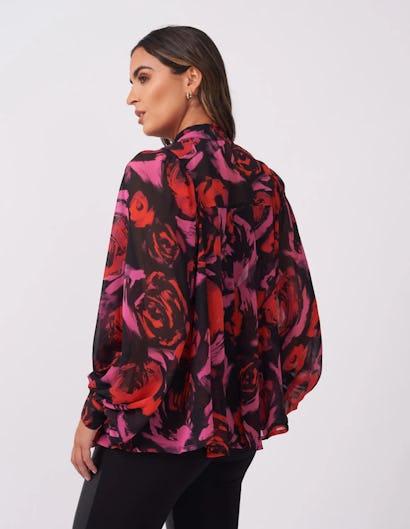 Dark Rose Sheer Blouse