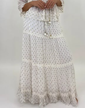 Ivory Skirt with Gold Foil Spots