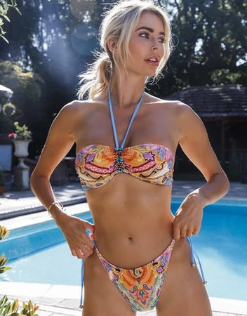 Luxury Paisley Print Bikini Set