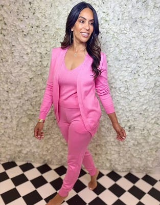 Three Piece Hot Pink Lounge Set