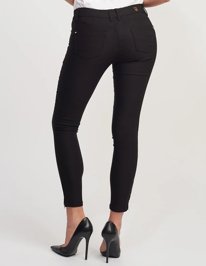 Black Denim Fitted Stretch Skinny Jeans
