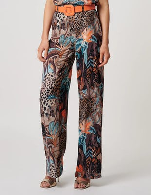 Tropical Jungle Wide Leg Trousers