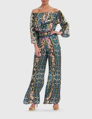 Multi-Coloured Snake Print Co-ord