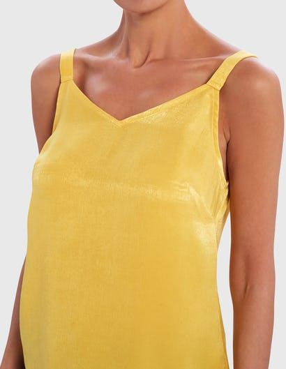 Yellow High-Shine Camisole Top