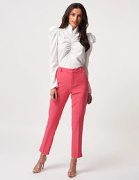 Pink Tapered Suit Trousers